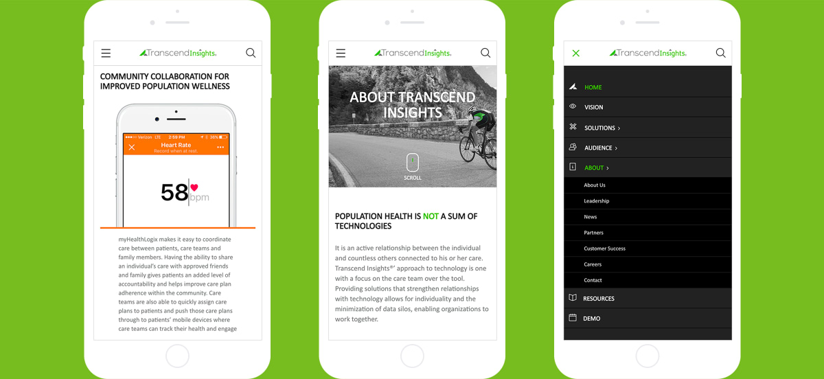 Transcend Insights responsive design