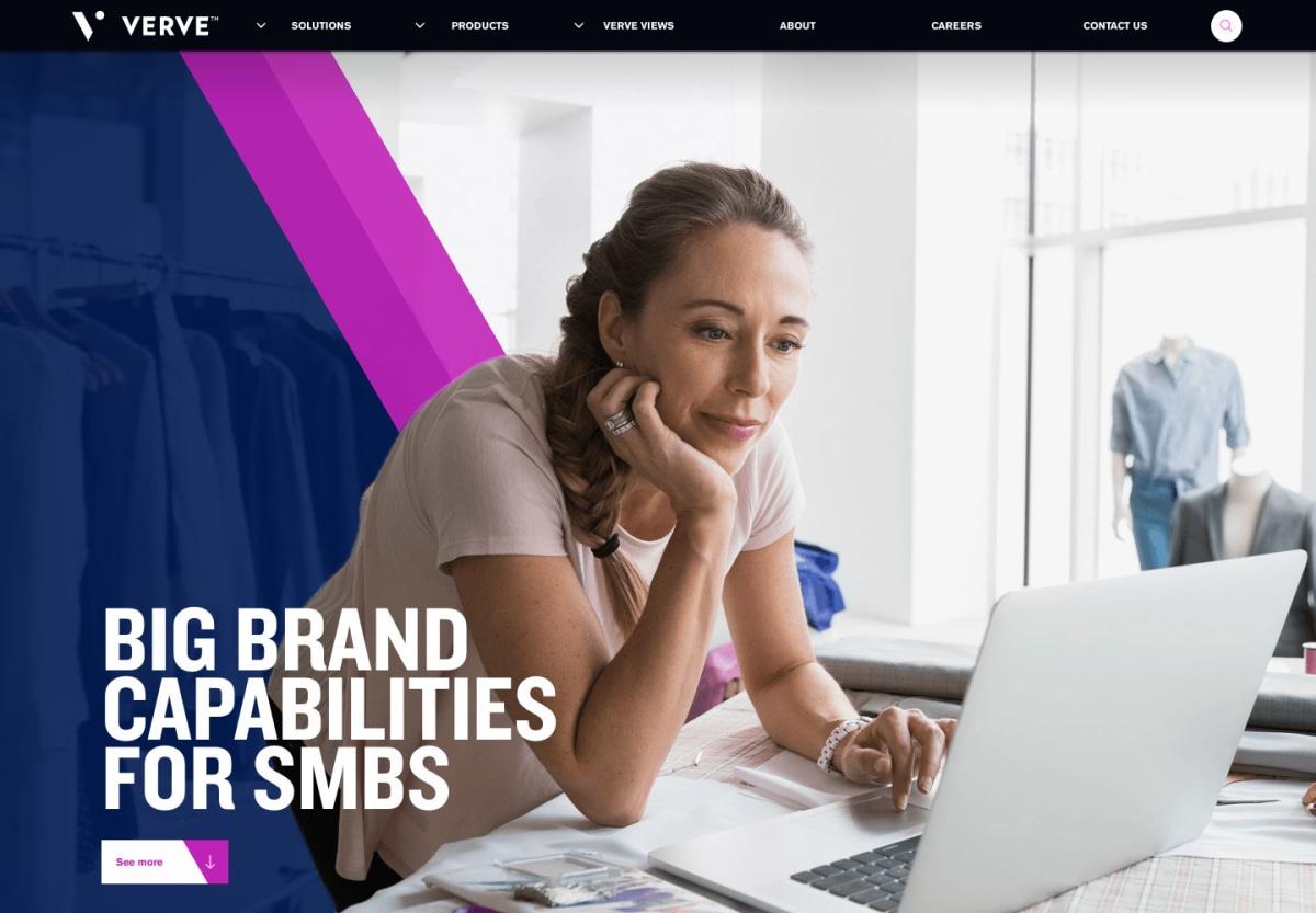 Verve Enterprise business solution page hero