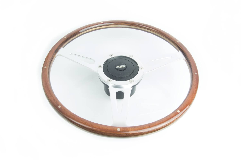 """Image - Woodrim Steering Wheel - Including Boss 15"""" Diameter"""
