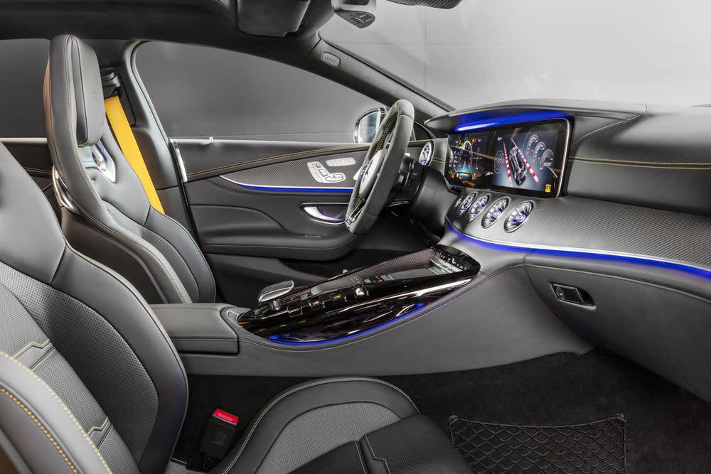 Bei der Innenausstattung desMercedes-AMG GT 63 S Edition 1 setzt sich das edle Design fort