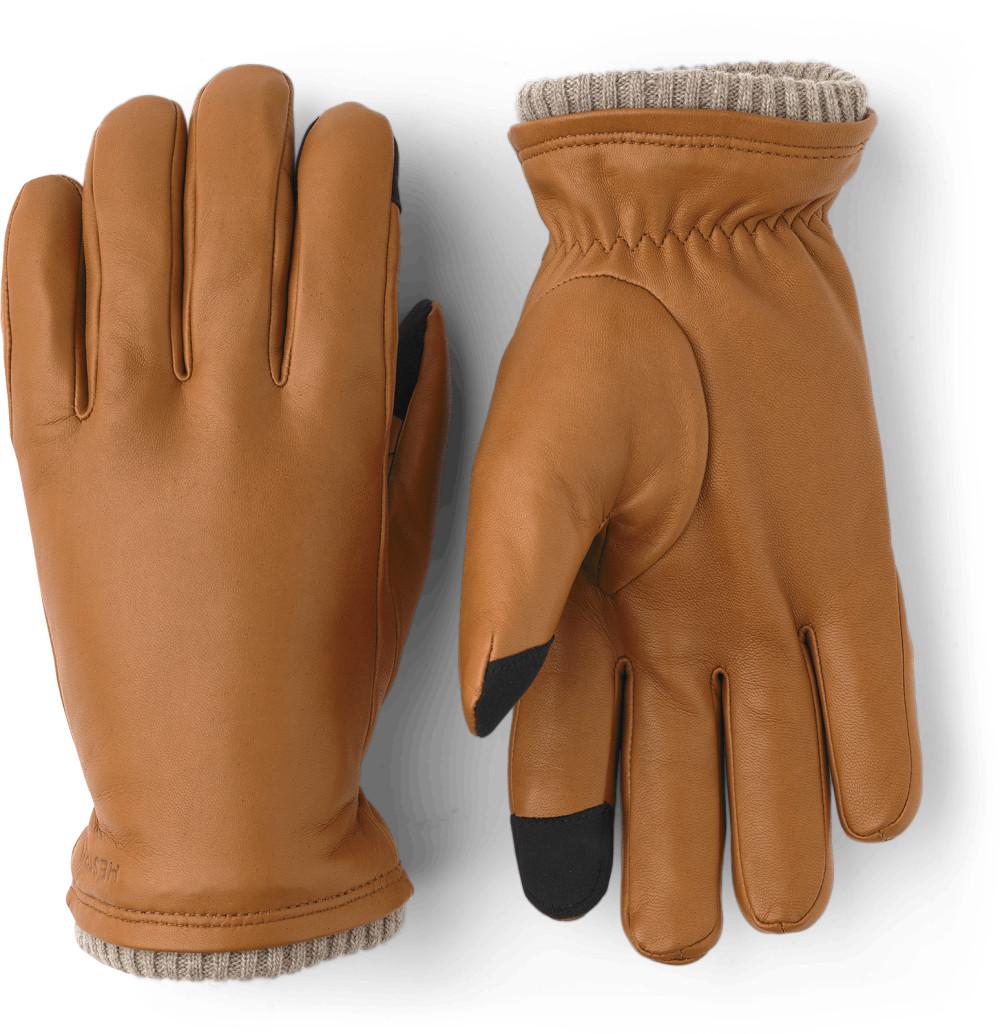 Hestra bietet Touchscreen-Handschuhe aus Leder an.