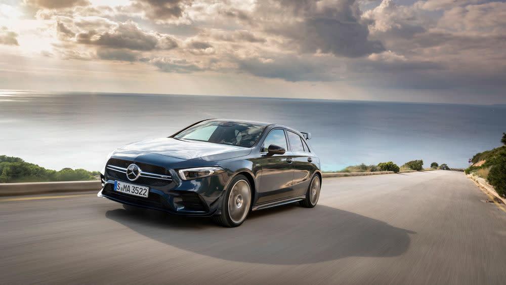 Das neue AMG-Modell heißt A 35 und hat 306 PS.