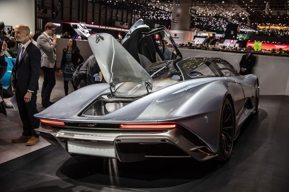 Die Rückansicht des McLaren Speedtail.