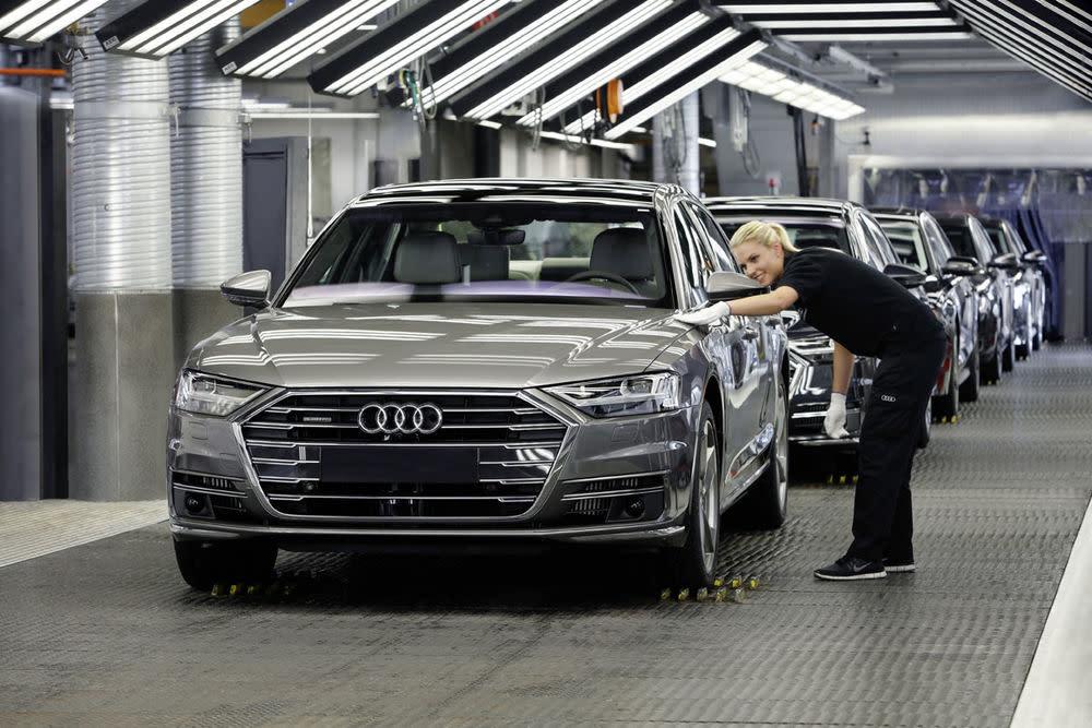 Hergestellt wird der Audi 8 im Werk im Neckarsulm.