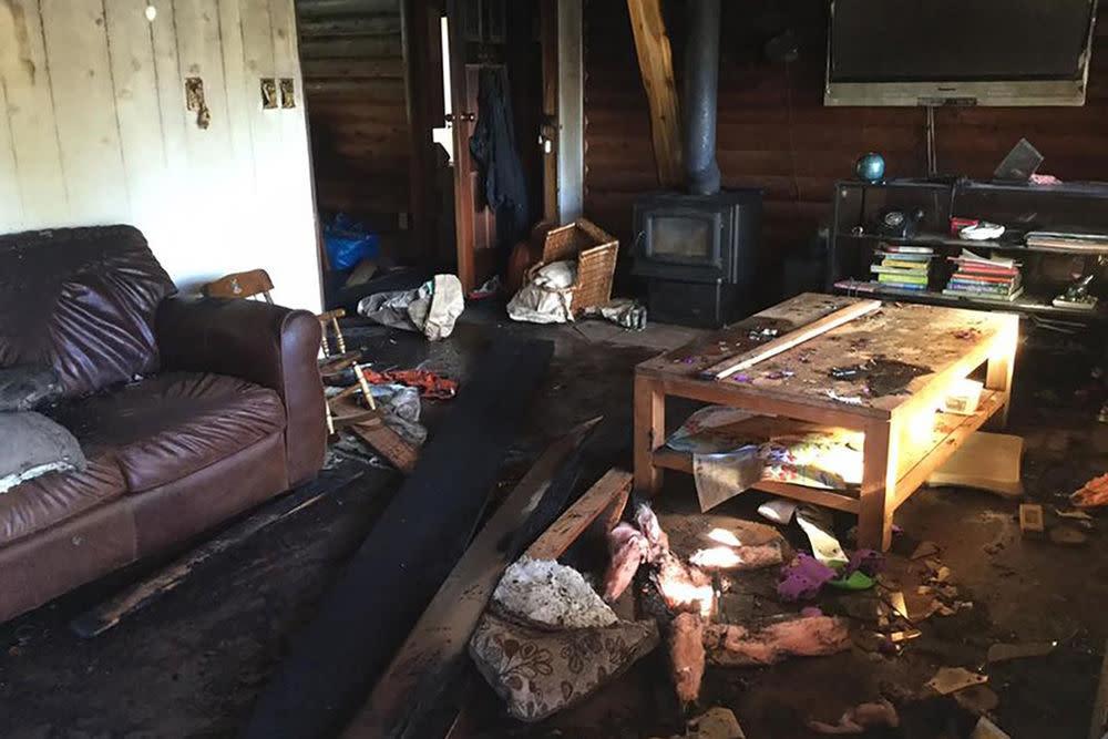 So sah die Farm der Familie nach dem vermeintlichen iPhone-Brand aus