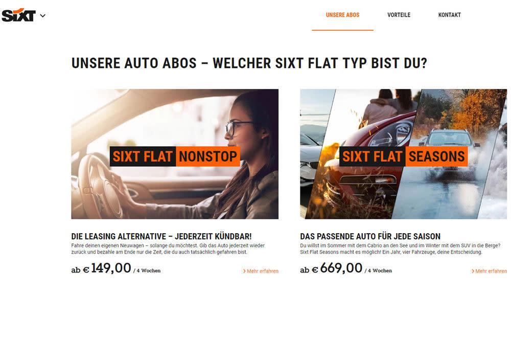 Bei der Flatrate von Sixt sind die Autos komplett versichert, versteuert, mit Winterreifen und inklusive aller Reparaturen.