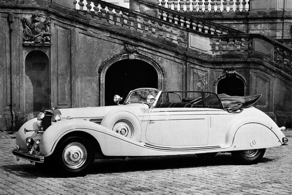 """Es gab Zeiten, da hatten Schlachtschiffe noch Räder. Beweis: der Mercedes Benz W150, Typ""""Großer Mercedes"""". Dieser Viersitzer wurde 1940 als Einzelstück gefertigt, für den iranischen Kronprinzen."""