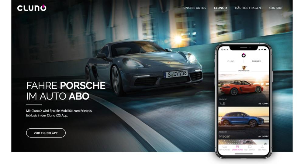 Porsche InFlow - neues Aboprogramm von Porsche und Cluno