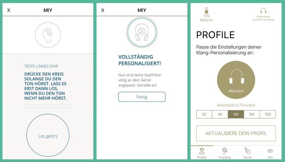 Aventho Wireless Mimi App Personalisierung