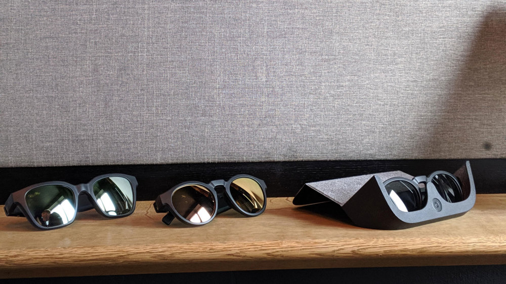 Mit Wechselgläsern lässt sich schnell die Optik der Bose Frames ändern.