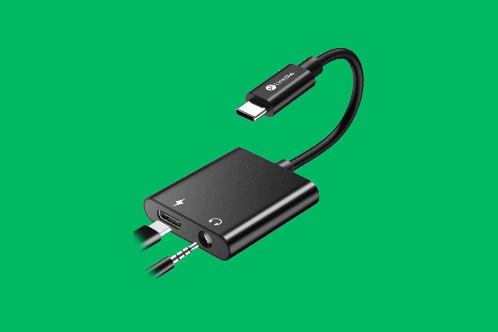 Linklike 2-in-1 USB C auf 3,5 mm Kopfhörer-Adapter Smartphone-Kamera Gadget