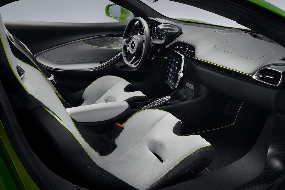 Im Innenraum des McLaren Artura werden Kenner zwei neue Bedienelemente finden.