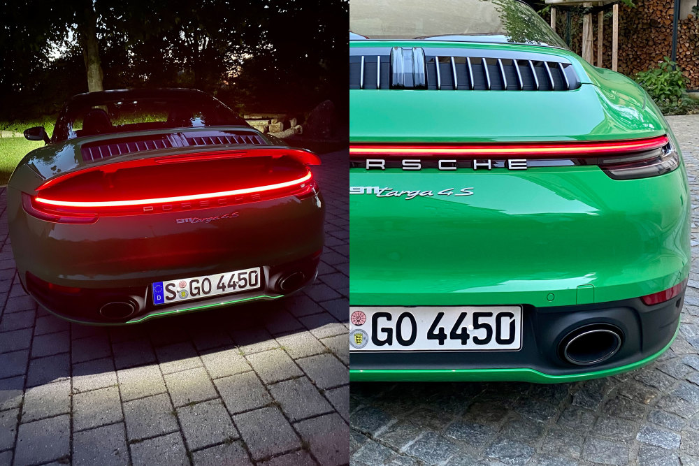 Das Lichtband des Porsche 911 Targa 4S ist ein Highlight
