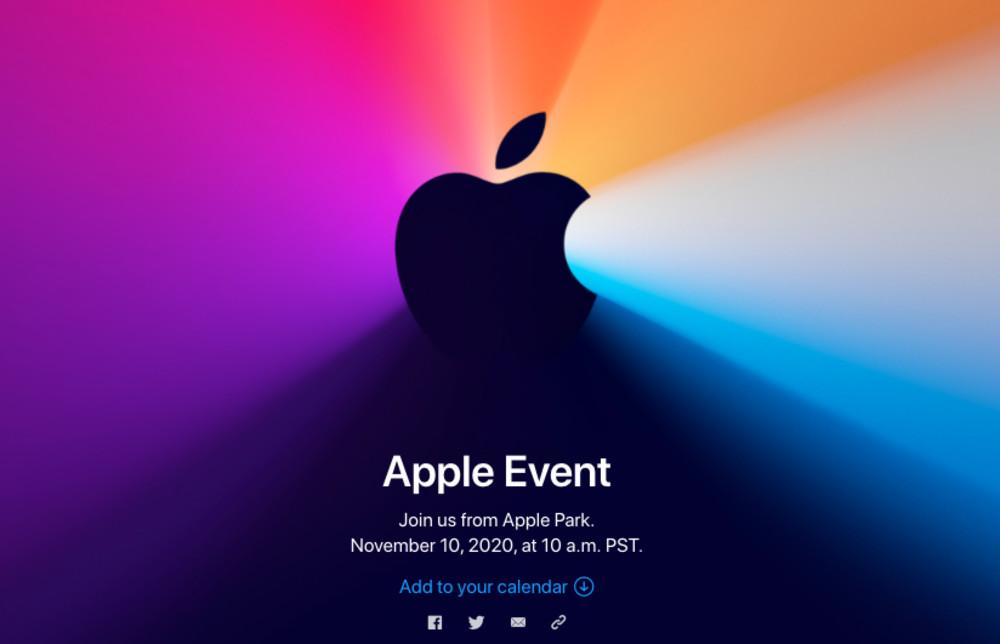 Die Einladung zur dritten Apple Keynote 2020