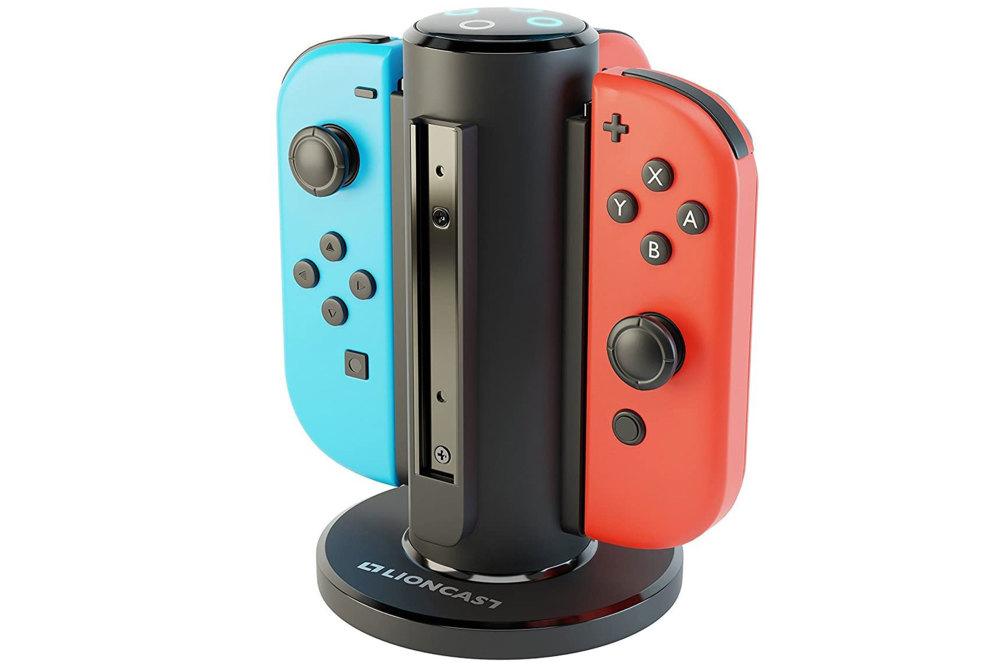 Nintendo Switch, Zubehör, Accessoire, Lioncast Joy-Con Quad-Charger