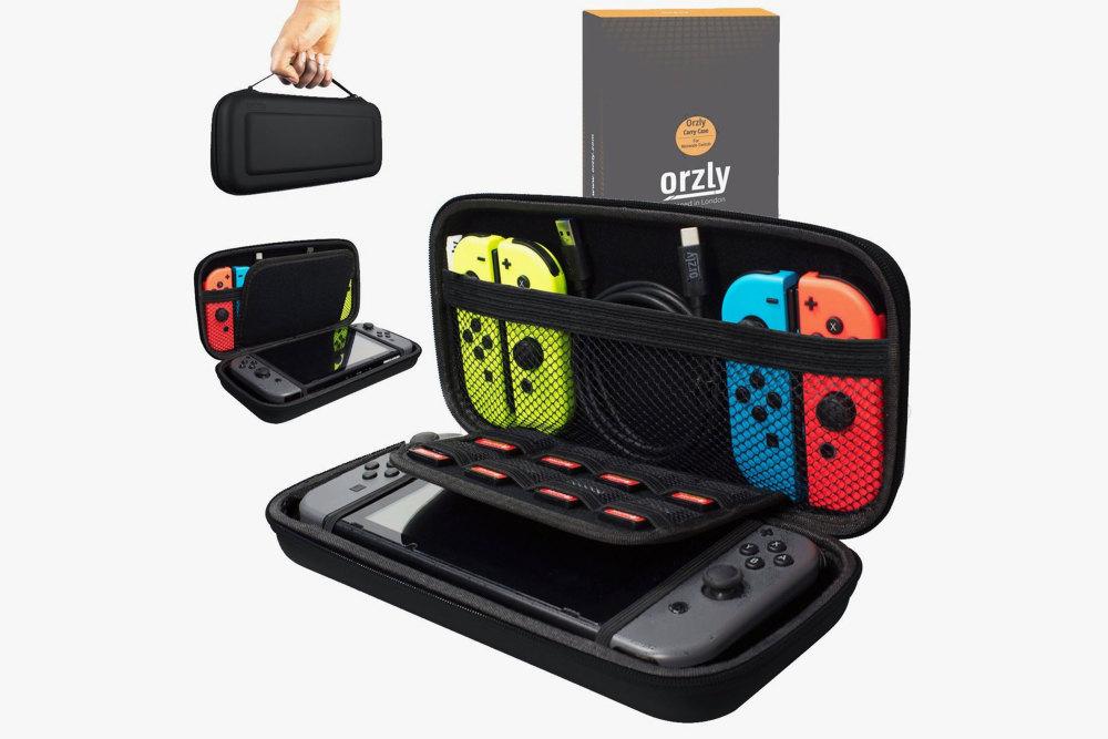 Nintendo Switch, Zubehör, Accessoire, Orzly Tragetasche
