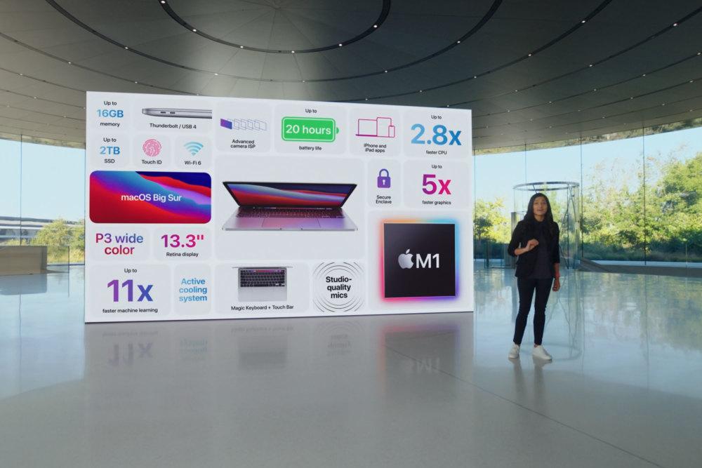 Apples neuer M1-Chip im MacBook Pro (2020)
