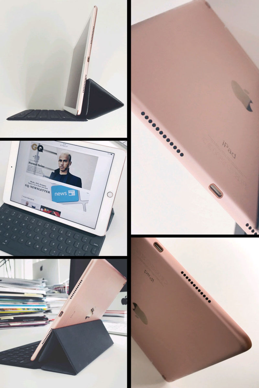 """Was Apple ganz simpel """"True Tone"""" nennt, ist eine echte technische Leistung. Im Displayrahmen des iPad Pro stecken Umgebungslichtsensoren. Die messen die Farbtemperatur des Lichts und passen Helligkeit und Farbton des Displays an."""