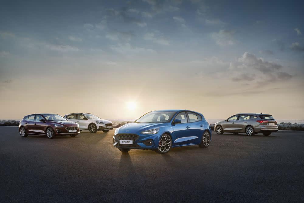 Das gesamte Line-Up des neuen Ford Focus in der vierten Generation