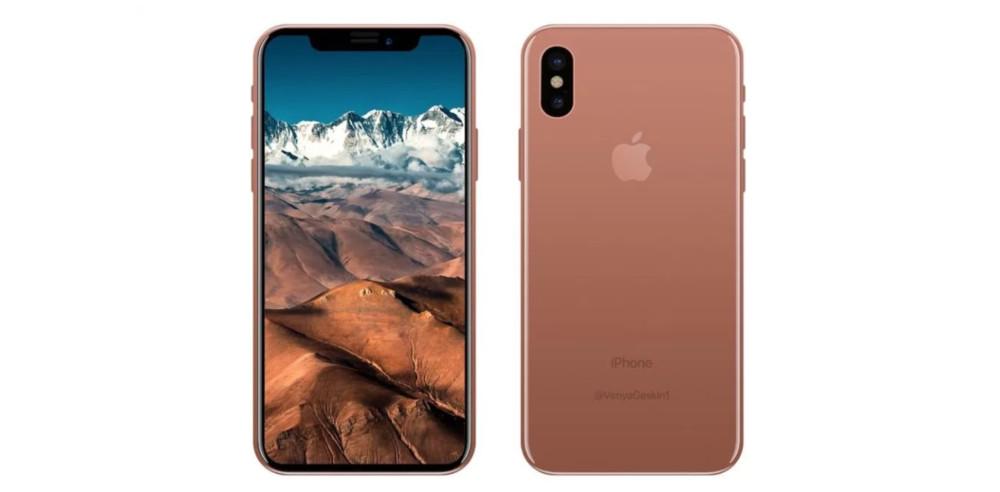 Benjamin Geskin zeigt, wie das neue iPhone 8 in Kupfer aussehen könnte.