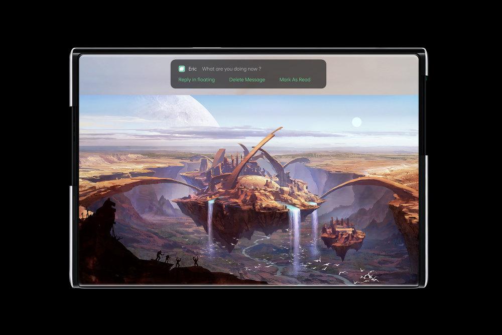 Das Display des Oppo X 2021 lässt sich ausrollen