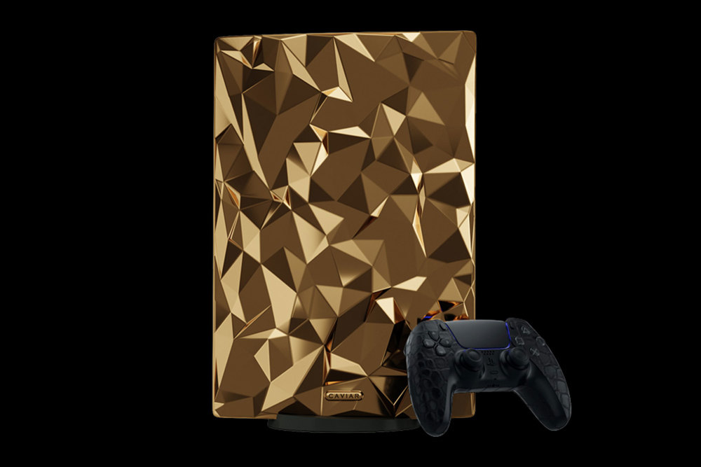 Caviar gibt seiner goldenen Playstation 5 den Namen Golden Rock.