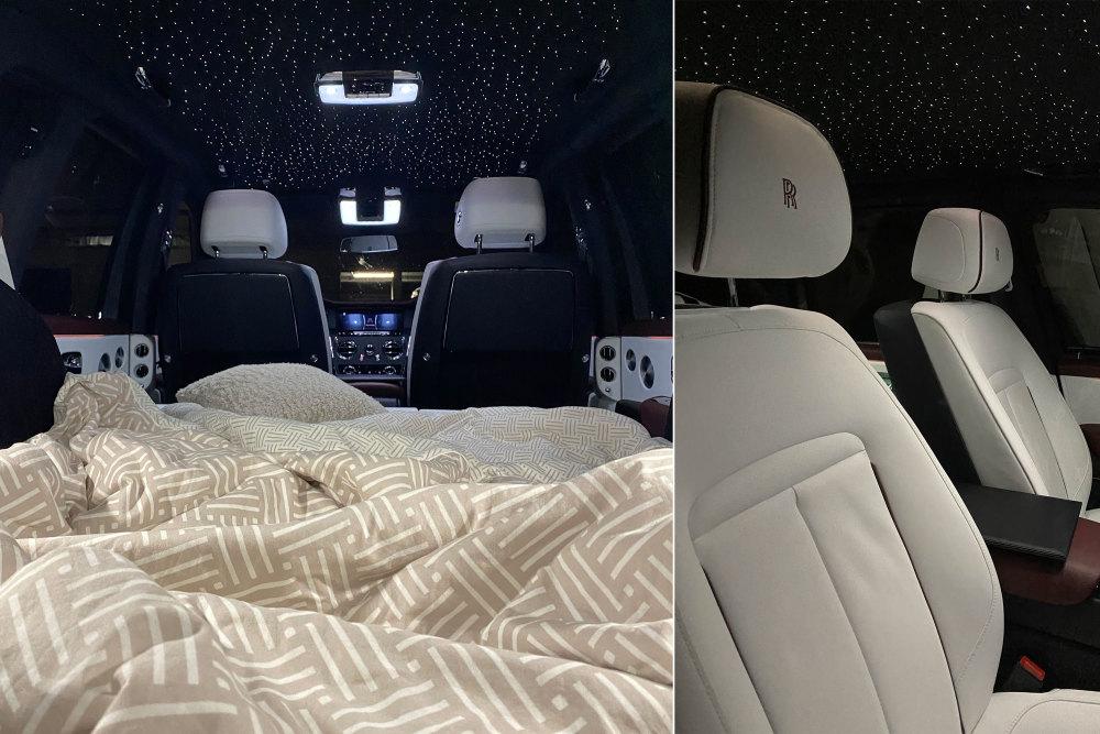 Im Rolls-Royce Cullinan kann man auch schlafen