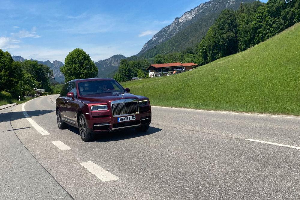 Der Rolls-Royce Cullinan im Berchtesgadener Land