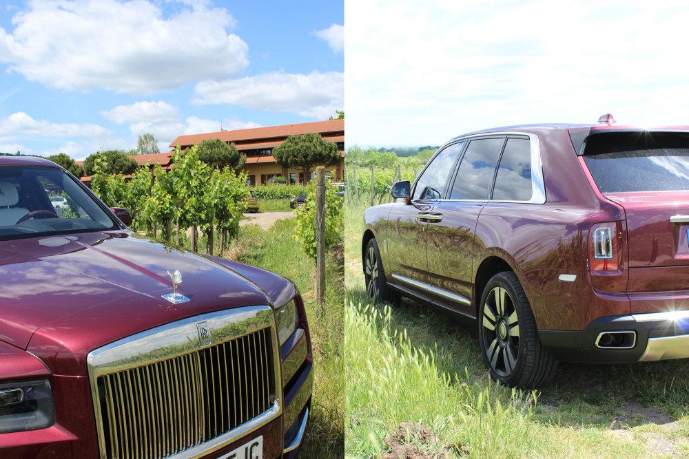 Der Rolls-Royce Cullinan in den Weinbergen