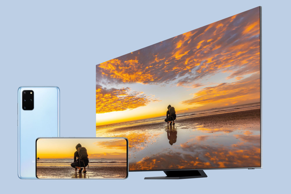 Samsung TV und Smartphone können 8K-Videos abspielen