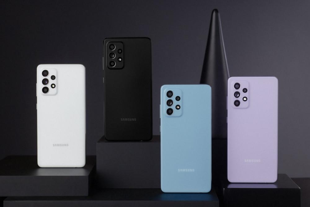 In diesen Farben ist das Samsung Galaxy A52 Smartphone erhältlich.