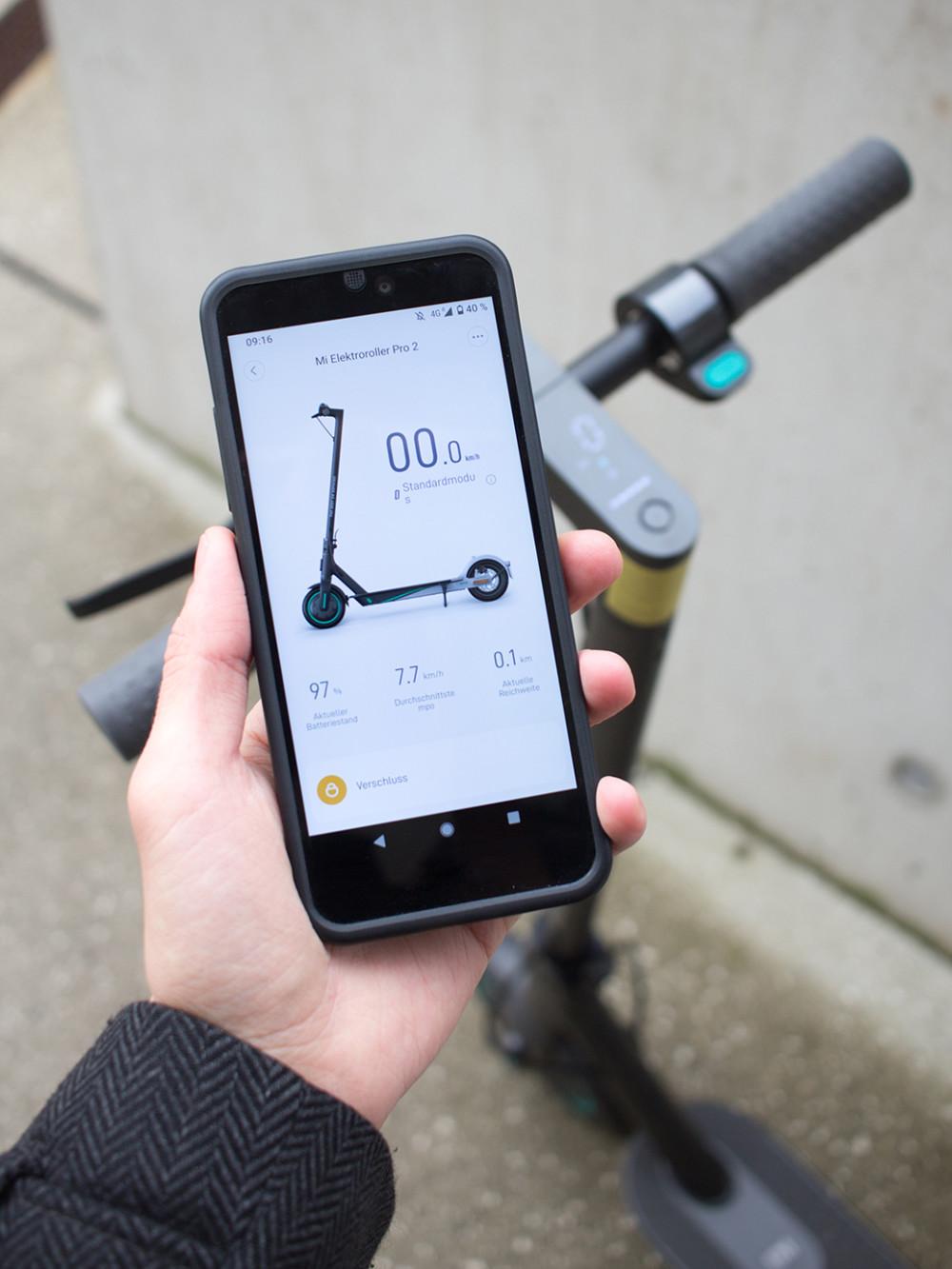Via App lassen sich die Einstellungen des Xiaomi E-Scooters verändern.