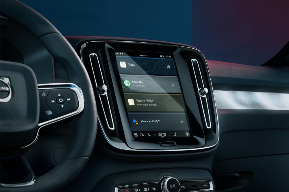 Das Herzstück des Volvo C40 Recharge ist das neue Infotainment-System.
