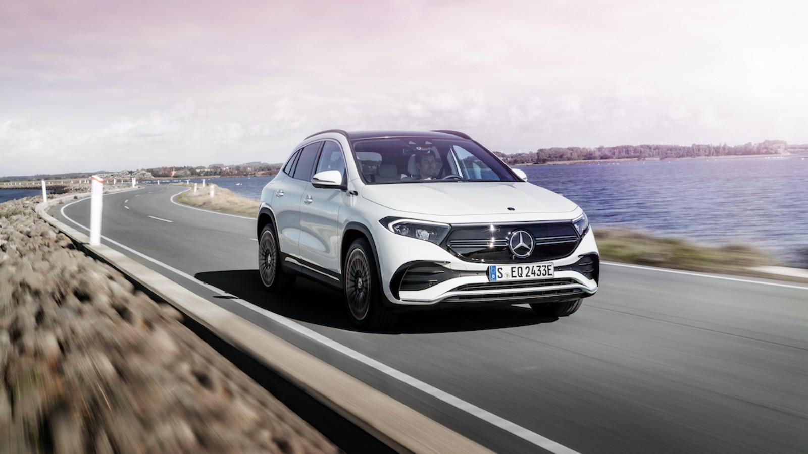 Mercedes erweitert seine Marke EQ mit dem Crossover-SUV EQA.