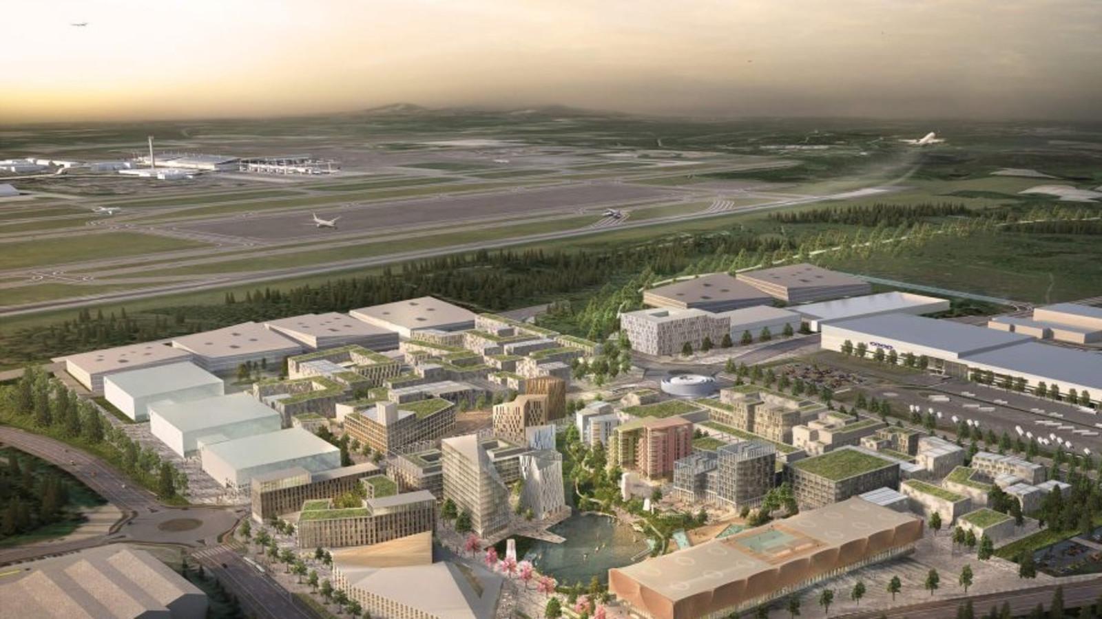 Illustration Oslo Airport City sustainable smart city
