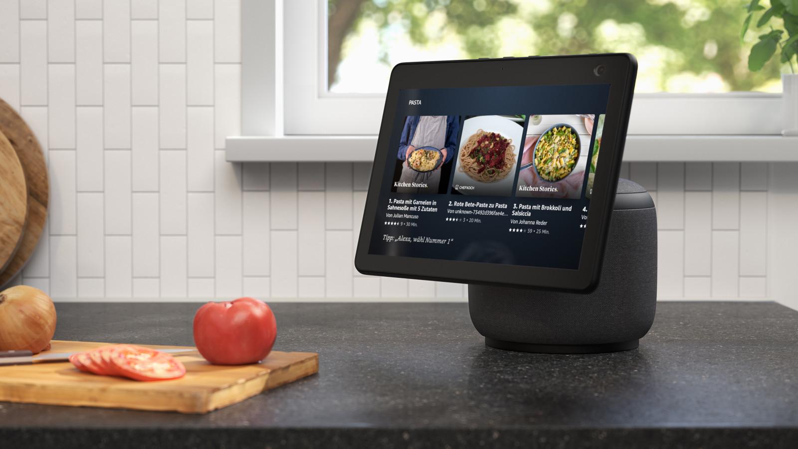 Der neue Amazon Echo Show 10 Smart Speaker kann als Videokamera verwendet werden.