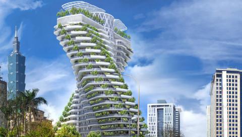 Ein Luxus-Hochhaus, das mit 23.000 Bäumen den Smog bekämpft