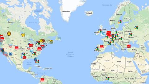 Diese Karte zeigt, wo auf der Welt euer Webtraffic abgefangen wird