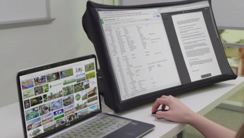 Dieser Monitor lässt sich falten wie ein Regenschirm