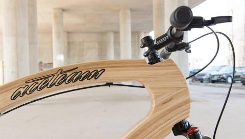 Bei diesem E-Bike steckt die Elektronik in einem Rahmen aus Eschenholz