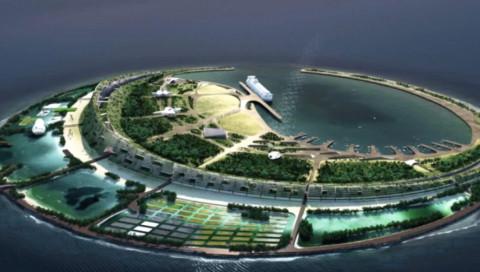 Yin/Yang und ein Yachthafen: New Yorker Architekten bebauen künstliche Insel in China