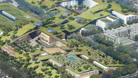 Im Silicon Valley soll der größte Dachgarten der Welt entstehen