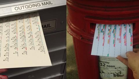 Daten statt Fotos: Das Kunstprojekt Dear Data ist eine ungewöhnliche Postkarten-Freundschaft