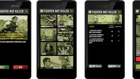 """Die App """"Fighter, not Killer"""" gibt Nachhilfe in Sachen Kriegsrecht"""