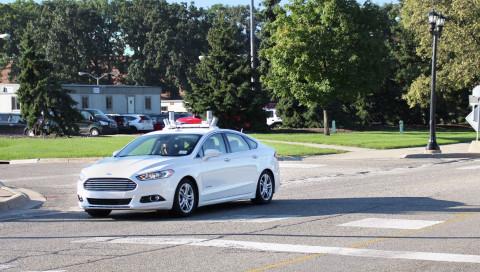 Eine Fahrt im autonomen Ford Fusion