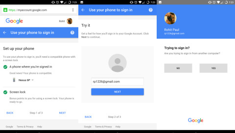 Google testet das Einloggen ohne Passwort