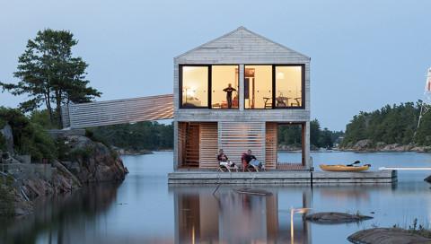 Schwimmende Häuser sind das Wohnkonzept der Zukunft
