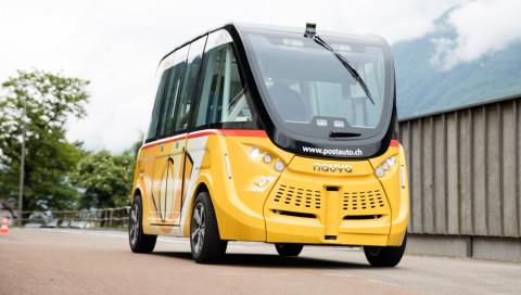 PostAuto Schweiz testet selbstfahrende Elektrobusse