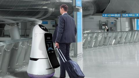 Flughafenroboter helfen in Südkorea beim Einchecken