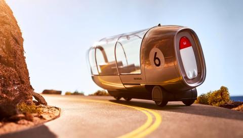 Niedliche Weltenbummler: Hondas Vision vom Reisen im selbstfahrenden Auto